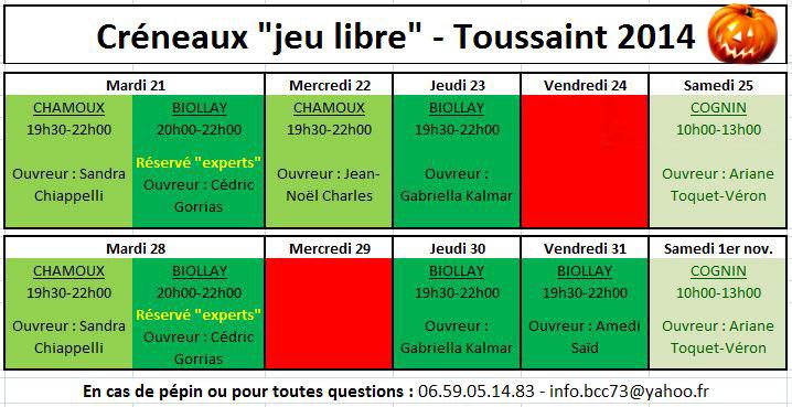 CreneauBCC73 Toussaint2014