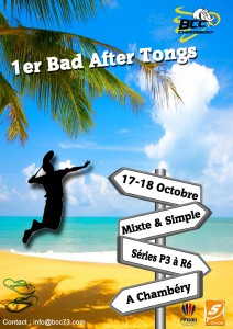 Affiche tournoi bad after tong bcc73