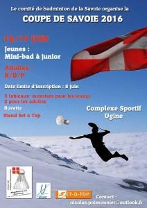 Affiche de la coupe de Savoie 2016