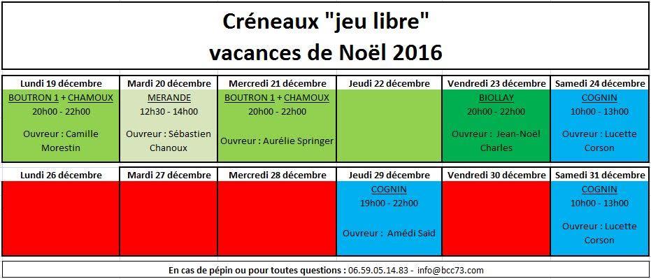 Creneaux BCC73 Noel2016