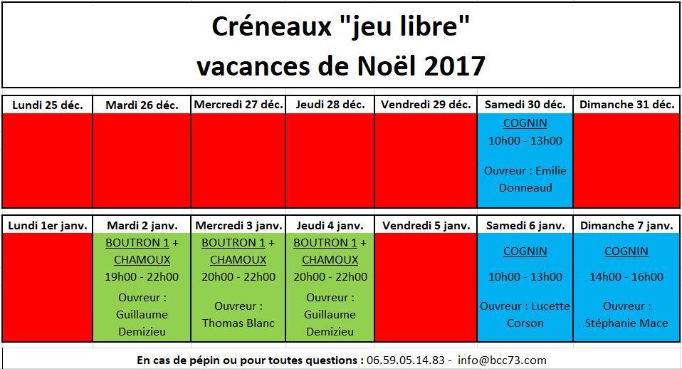 Cr neaux des vacances de fin d 39 ann e bcc73 - Date vacances noel 2017 ...